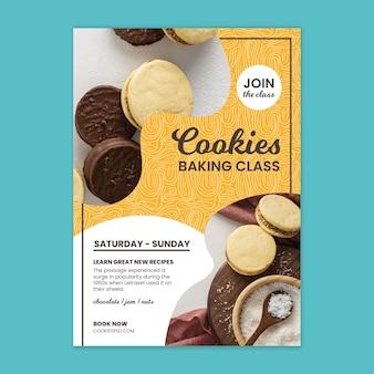 Affiche de cours de cuisson de biscuits