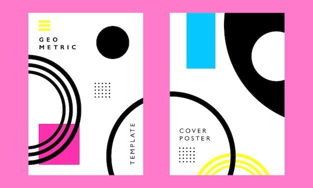 Affiche de couverture d'art géométrique
