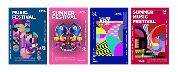 Affiche et couverture du festival estival d'art et de musique