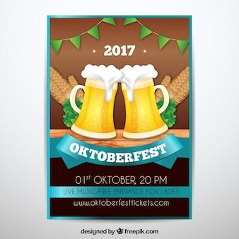 Affiche creative oktoberfest