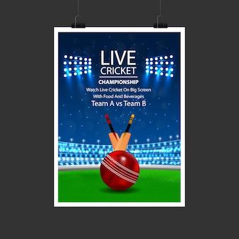Affiche de cricket