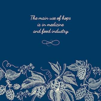Affiche de croquis floral décoratif abstrait