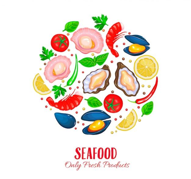 Affiche de crustacés.