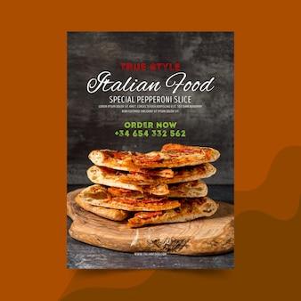 Affiche de cuisine italienne