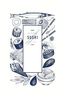 Affiche de la cuisine japonaise