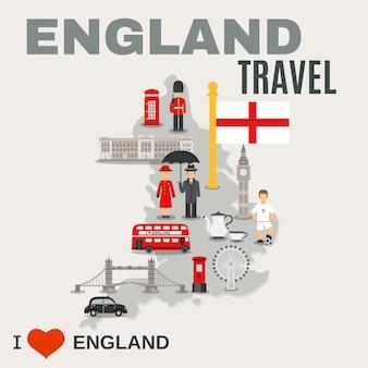Affiche de la culture anglaise pour les voyageurs