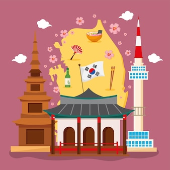 Affiche de la culture coréenne