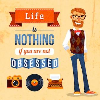 Affiche de culture de hipster