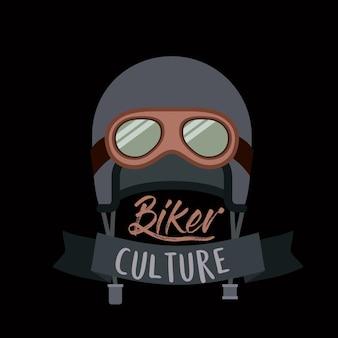 Affiche de culture de motard