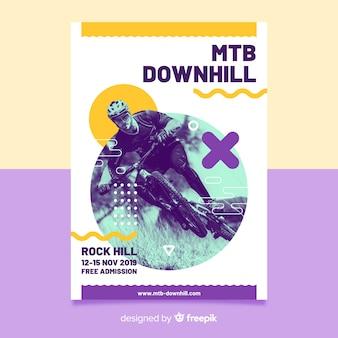 Affiche de cyclisme extrême style memphis