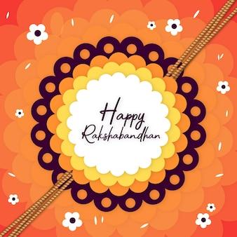 Affiche de fond coloré heureux Rakshabandhan