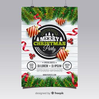 Affiche de la fête de Noël