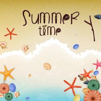 Affiche de temps de vacances d'été