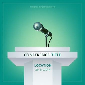 Affiche de vecteur de conférence