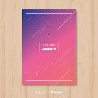 Affiche dégradé géométrique
