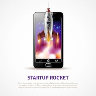 Affiche de démarrage de fusée