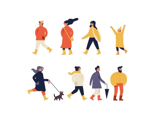 Affiche, dépliant ou bannière ou bannière de la foire d'automne avec des personnes profitant de leur temps à l'extérieur dans le parc. activités récréatives et événement public de la saison des vacances d'automne.