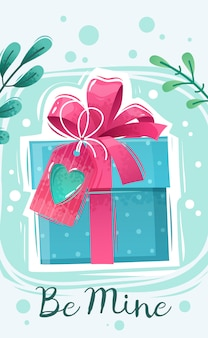 Affiche de dessin animé de saint valentin