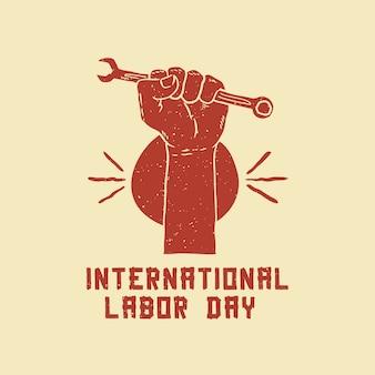 Affiche de dessin de la fête du travail internationale