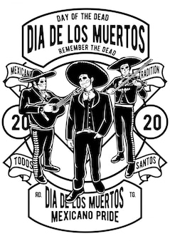 Affiche dia de los muertos