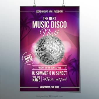 Affiche de disco musique