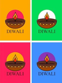 Affiche diwali heureuse