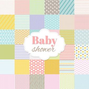 Affiche de douche de bébé avec illustration de filet de dégradé