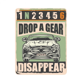 Affiche drop a gear and disappear