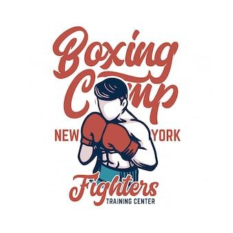 Affiche du camp de boxe