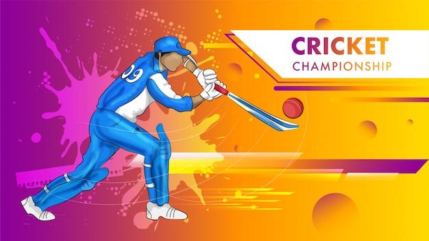 Affiche du championnat de cricket