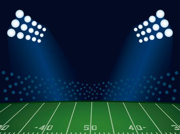 Affiche du championnat du super bowl avec scène du stade