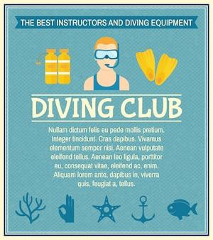 Affiche du club de plongée
