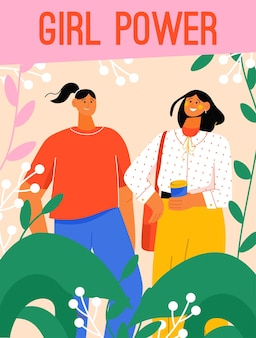 Affiche du concept girl power