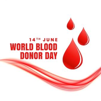 Affiche du concept de la journée mondiale du donneur de sang du 14 juin