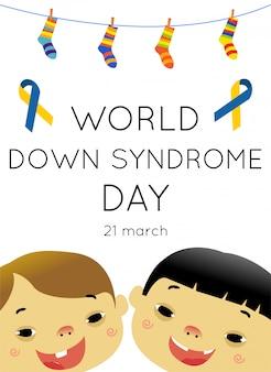 Affiche du concept de la journée mondiale du syndrome de down