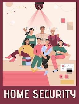 Affiche du concept de sécurité à domicile