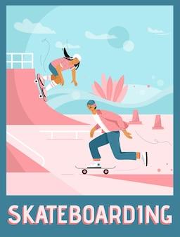 Affiche du concept de skateboard