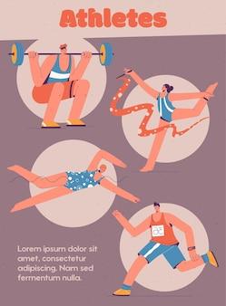 Affiche du concept de sport sport professionnel passe-temps actif