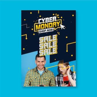 Affiche du cyber lundi avec réduction