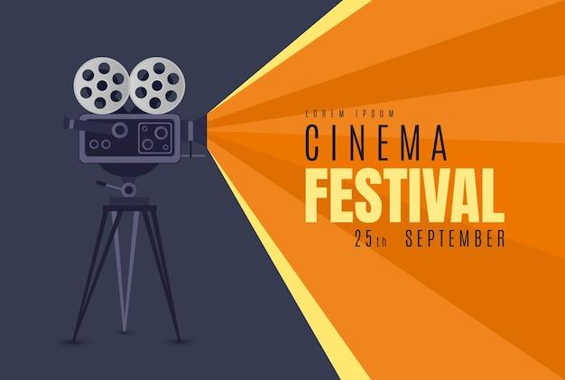 Affiche du festival de cinéma ou illustration vectorielle de fond affiche de film