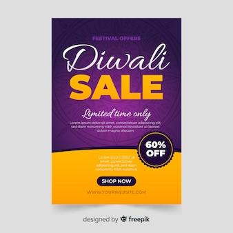 Affiche du festival à durée limitée du festival de diwali