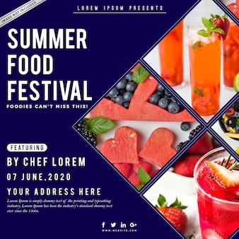 Affiche du festival gastronomique d'été