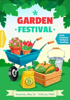 Affiche du festival de jardin