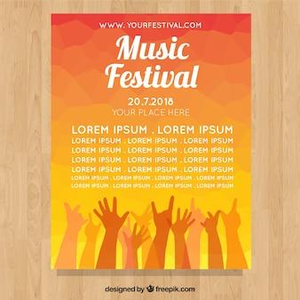Affiche du festival avec les mains