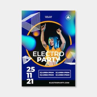 Affiche du festival de musique 2021 design