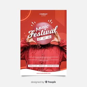 Affiche du festival de musique abstraite avec photo