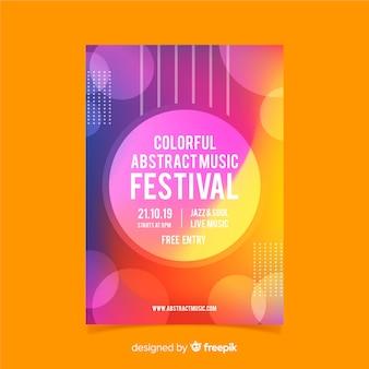 Affiche du festival de musique colorée abstraite