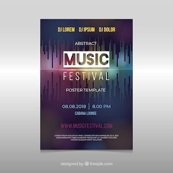 Affiche du festival de musique dans un style abstrait