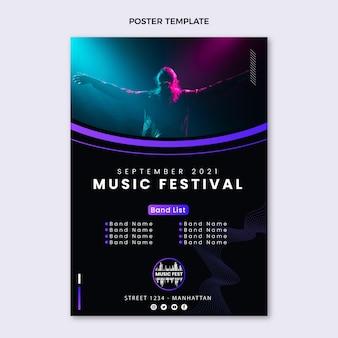 Affiche du festival de musique dégradé