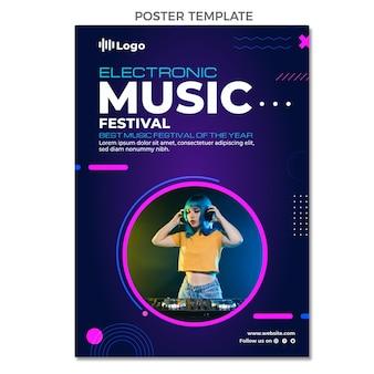 Affiche du festival de musique en demi-teinte dégradé